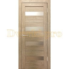 Дверь Бавария 02 3Д-Люкс ясень сонома, остекленная