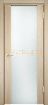1150, Дверь Сан-Ремо 01 беленый дуб, остекленная, белый триплекс, 17144, 10 625.00 р., 1150-01, , Экошпон Премиум