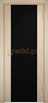 1148, Дверь Сан-Ремо 01 беленый дуб, остекленная, черный триплекс, 17142, 10 625.00 р., 1148-01, , Экошпон Премиум