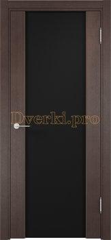 1145, Дверь Сан-Ремо 01 венге, остекленная, черный триплекс, 17139, 10 625.00 р., 1145-01, , Экошпон Премиум