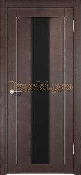 1363, Дверь Сицилия 02 венге, остекленная, черный триплекс, 18580, 9 660.00 р., 1363-01, , Экошпон Премиум
