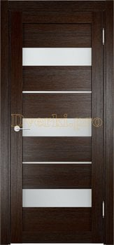 Дверь Мюнхен 02 дуб темный, остекленная, Eldorf экошпон с 3D покрытием