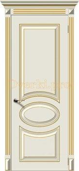 Дверь Джаз крем эмаль (золото), глухая