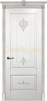 Дверь Флоранс белая эмаль (серебро), глухая