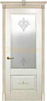 Дверь Флоранс слоновая кость, остекленная