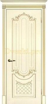 Дверь Муар слоновая кость (шампань), глухая