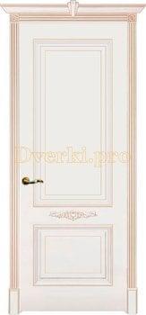 Дверь Паула белая эмаль (карамель), глухая