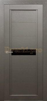 Дверь Т-1 серый камень, остекленная, Экошпон Стандарт