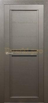 Дверь Т-2 серый камень, остекленная, Экошпон Стандарт