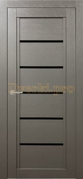 Дверь Т-3 серый камень, остекленная, Экошпон Стандарт