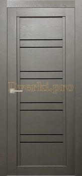 Дверь Т-4 серый камень, остекленная, Экошпон Стандарт