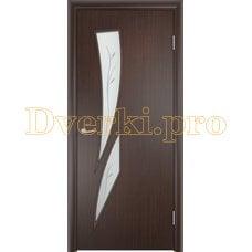 Дверь Тип С-02 венге, остекленная с фьюзингом
