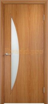 754, Дверь Тип С-06 миланский орех, остекленная, 12589, 2 040.00 р., 754-01, , В финиш-пленке