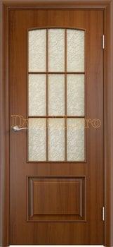 Дверь Тип С-26 лесной орех, остекленная Дельта