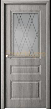 Дверь Каскад дуб филадельфия грей, остекленная, 4 065.00 р., 4143-01, , Облицованные ПВХ