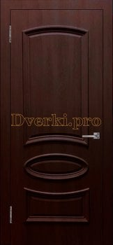 Дверь Ровито (объемный багет) крем, глухая, Облицованные ПВХ