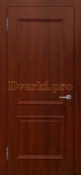Дверь Шервуд (объемный багет)  шоколад, Облицованные ПВХ