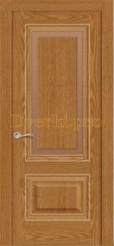 Дверь Элеганс 4 дуб медовый, остекленная