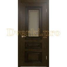 Дверь Элегия дуб коньяк, остекленная