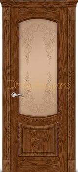 Дверь Калисто дуб мореный, остекленная