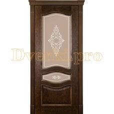 Дверь Алина-2 миндаль, остекленная