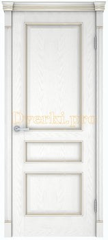 Дверь Шервуд 3 снежный дуб, глухая, Двери шпон Комфорт