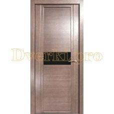 Дверь H-I черное стекло