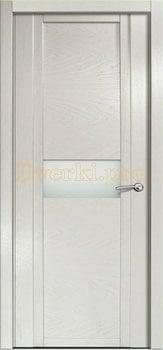 Дверь H-I белое стекло