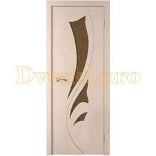 Дверь Лидия беленый дуб, остекленная