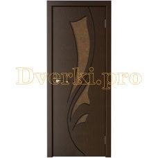 Дверь Лидия венге, остекленная
