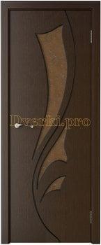 3229, Дверь Лидия венге, остекленная, 15454, 5 955.00 р., 3229-01, , Двери шпон Стандарт