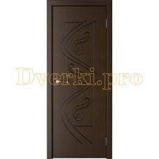 Дверь Вега беленый венге, глухая