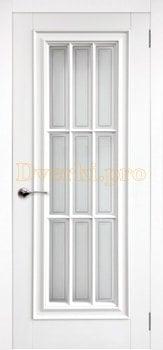 Дверь Модена белая эмаль, остекленная