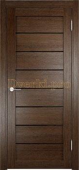 2640, Дверь Мюнхен 04 (Лакобель) дуб табак, остекленная, 22083, 3 900.00 р., 2640-01, , Двери Eldorf экошпон с 3D покрытием