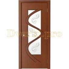 Дверь Вега макоре, остекленная