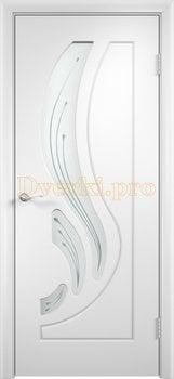 265, Дверь Лиана белая, остекленная, 11182, 4 490.00 р., 265-01, , Двери облицованные ПВХ