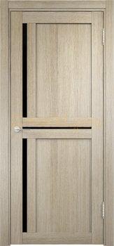 2563, Дверь Берлин 01 (Лакобель) дуб дымчатый, остекленная, 22006, 4 505.00 р., 2563-01, , Двери Eldorf экошпон с 3D покрытием
