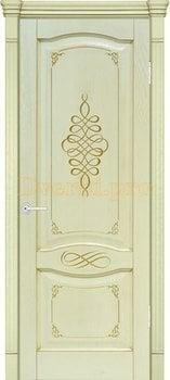 3282, Дверь Наполи 3D слоновая кость, глухая, 25717, 9 275.00 р., 3282-01, , Двери шпон Комфорт