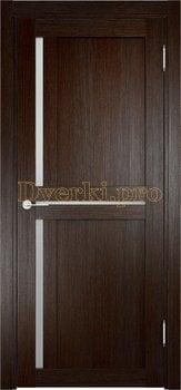 1907, Дверь Берлин 01 дуб темный, остекленная, 20832, 4 055.00 р., 1907-01, , Двери Eldorf экошпон с 3D покрытием