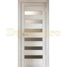 Дверь Бавария 03 ПВХ дуб шале капучино, остекленная