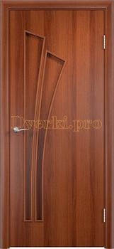 815, Дверь Тип С-07 итальянский орех, глухая, 12974, 2 135.00 р., 815-01, , Двери в финиш-пленке