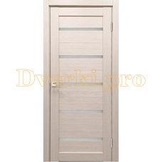 Дверь X-3 лиственница кремовая, остекленная