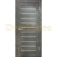 Дверь Бавария 04 3Д-Люкс дуб эдисон серый, остекленная