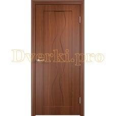 Дверь Вираж итальянский орех, глухая