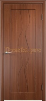 342, Дверь Вираж итальянский орех, глухая, 11389, 4 710.00 р., 342-01, , Двери облицованные ПВХ