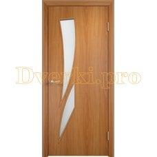 Дверь Тип С-02 миланский орех, остекленная
