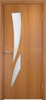 690, Дверь Тип С-02 миланский орех, остекленная, 12215, 2 140.00 р., 690-01, , Двери в финиш-пленке