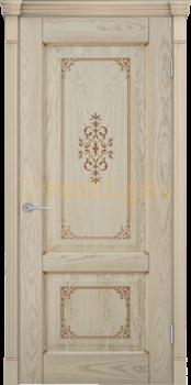 2741, Дверь Шервуд 3D дуб слоновая кость, глухая, 22409, 9 275.00 р., 2741-01, , Двери шпон Комфорт