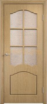 488, Дверь Лидия дуб, остекленная, 11595, 4 170.00 р., 488-01, , Двери облицованные ПВХ