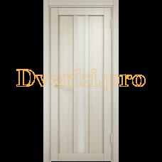 Дверь ЭКО 01 беленый дуб мелинга, остекленная